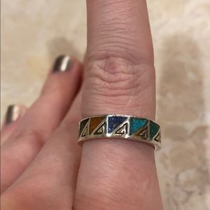 Carolyn Pollack Multi Stone Inlaid Ring